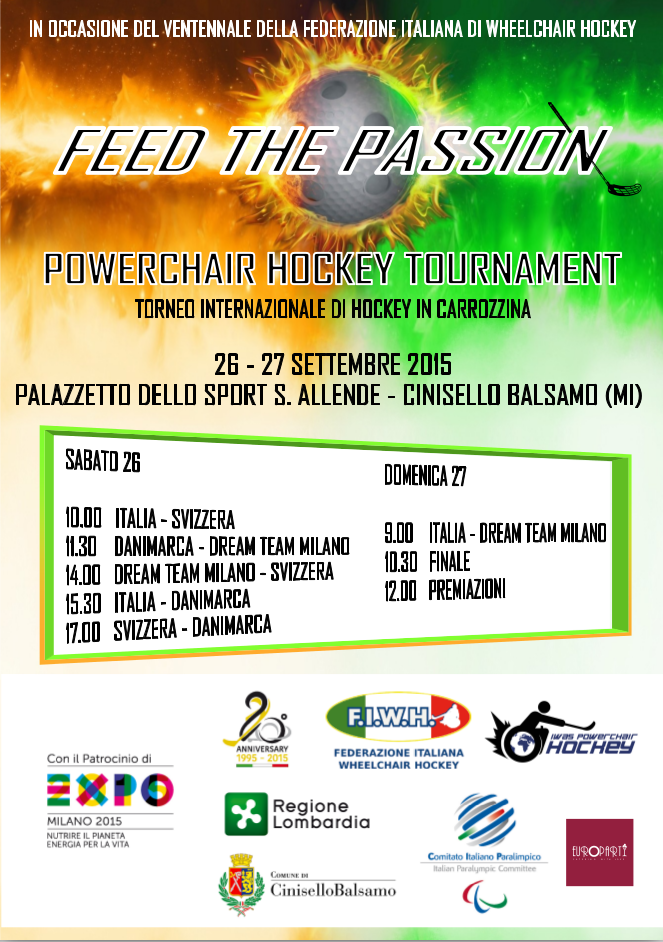 Feed the Passion - Powerchair Hockey Tournament